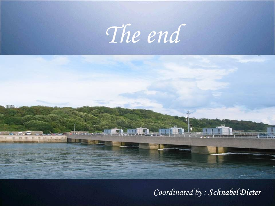 The end Coordinated by : Schnabel Dieter