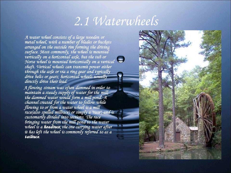 2.1 Waterwheels