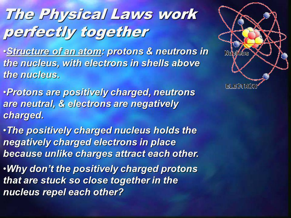 The Physical Laws work perfectly together