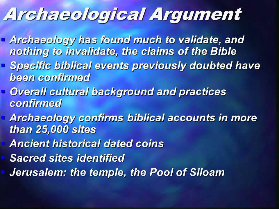 Archaeological Argument