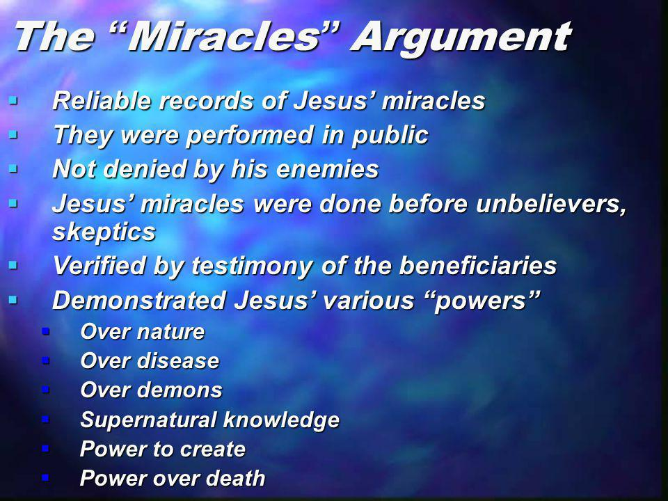 The Miracles Argument