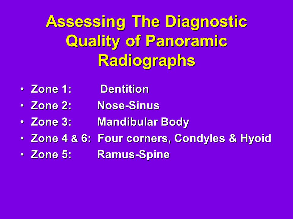 Assessing The Diagnostic Quality of Panoramic Radiographs