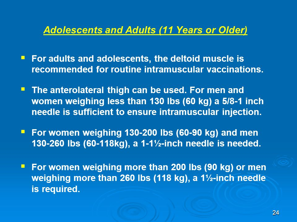 Adolescents and Adults (11 Years or Older)