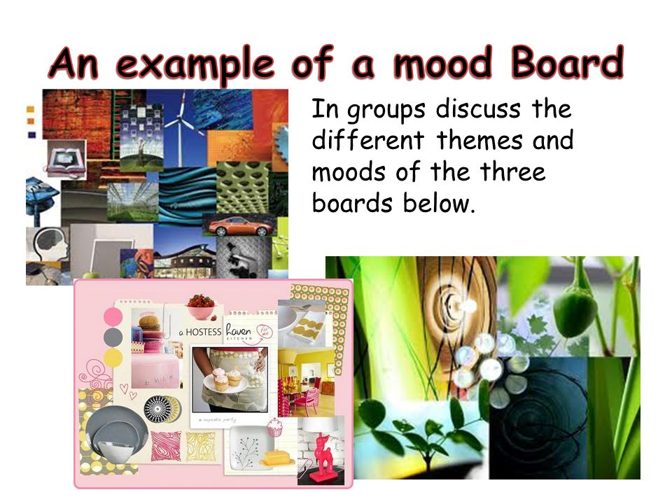 An example of a mood Board