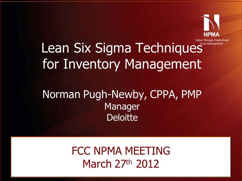 Lean Six Sigma Techniques for Inventory Management