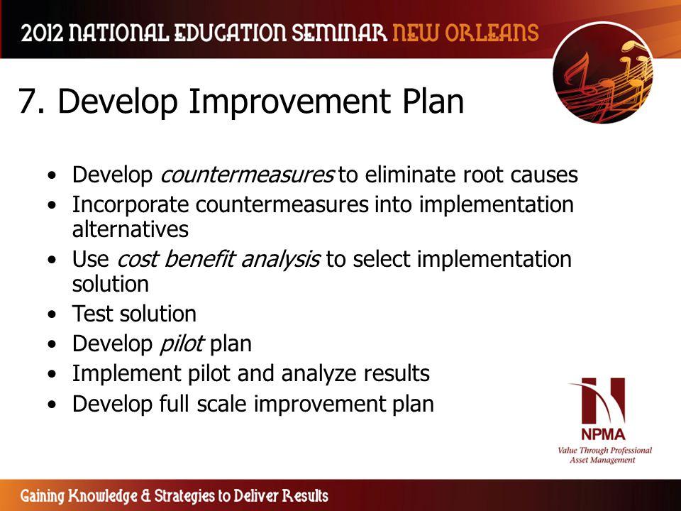 7. Develop Improvement Plan