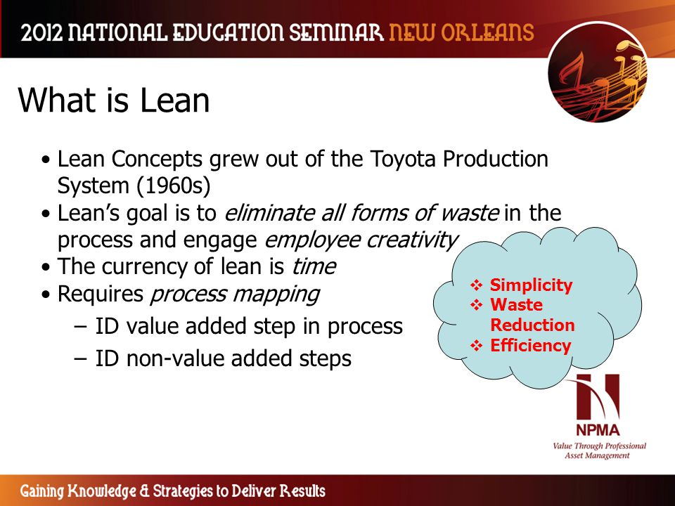 What is Lean Lean Concepts grew out of the Toyota Production System (1960s)