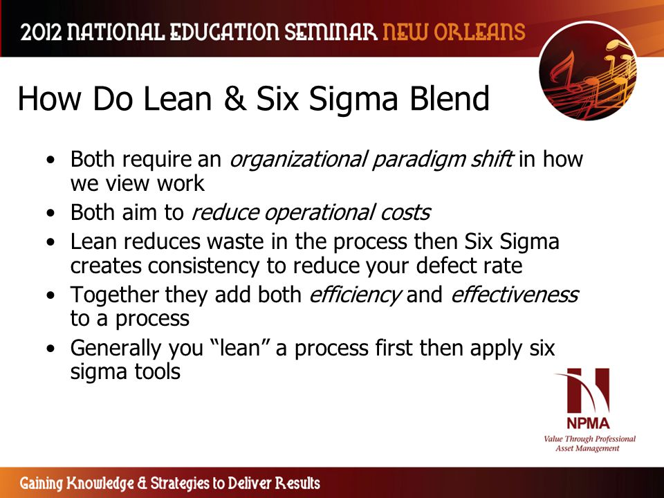 How Do Lean & Six Sigma Blend
