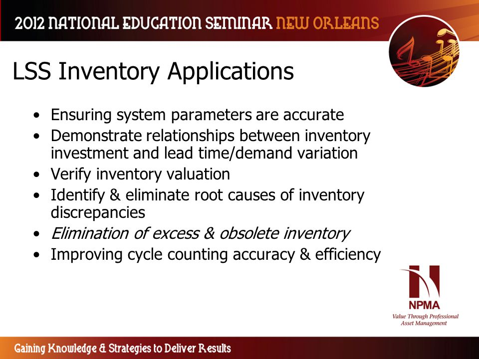 LSS Inventory Applications
