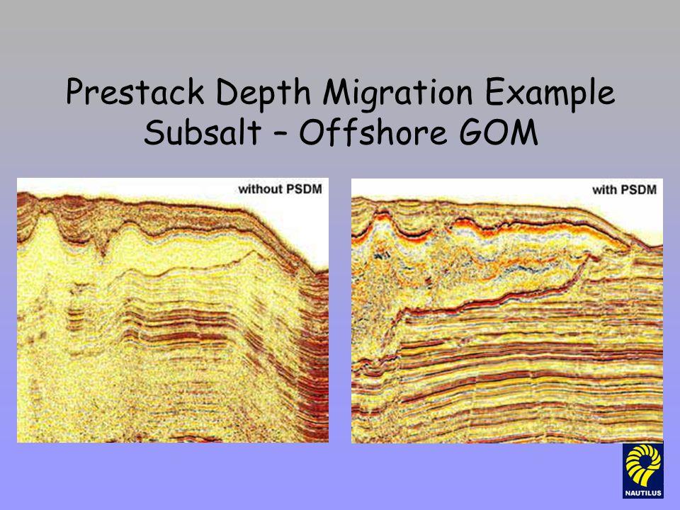 Prestack Depth Migration Example