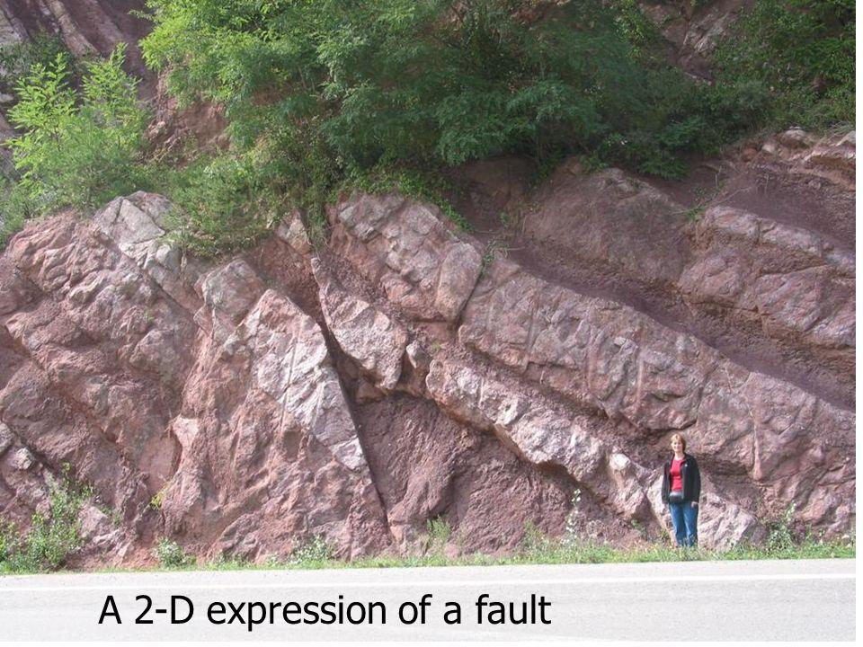 A 2-D expression of a fault