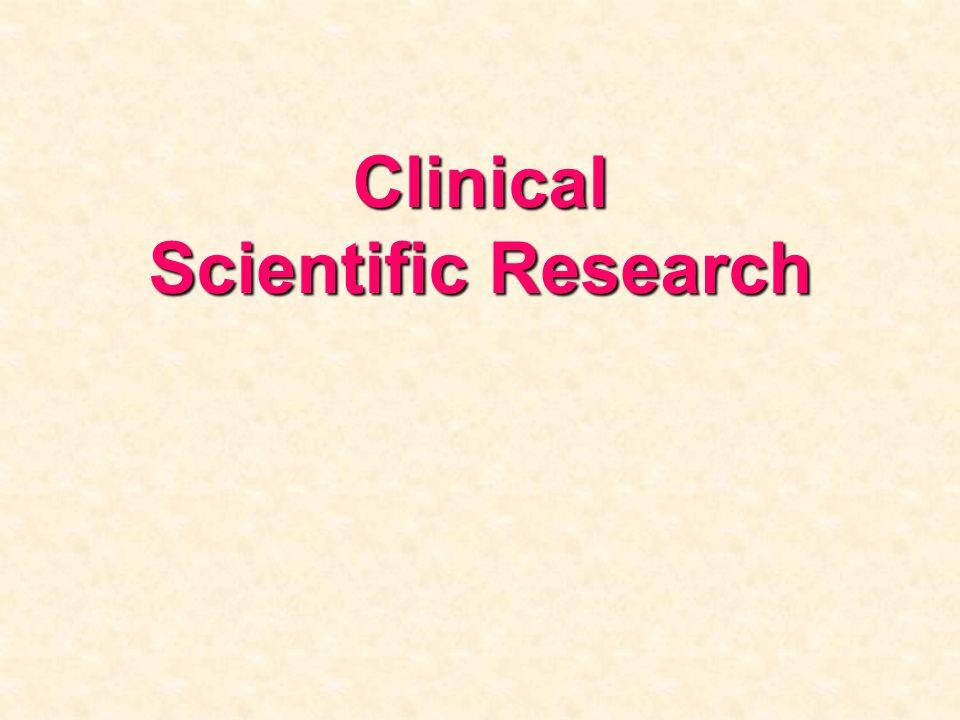Clinical Scientific Research