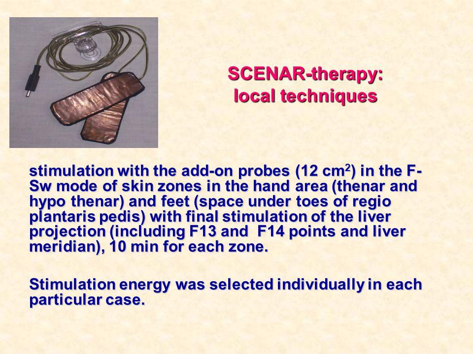 SCENAR-therapy: local techniques