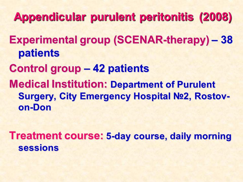 Appendicular purulent peritonitis (2008)