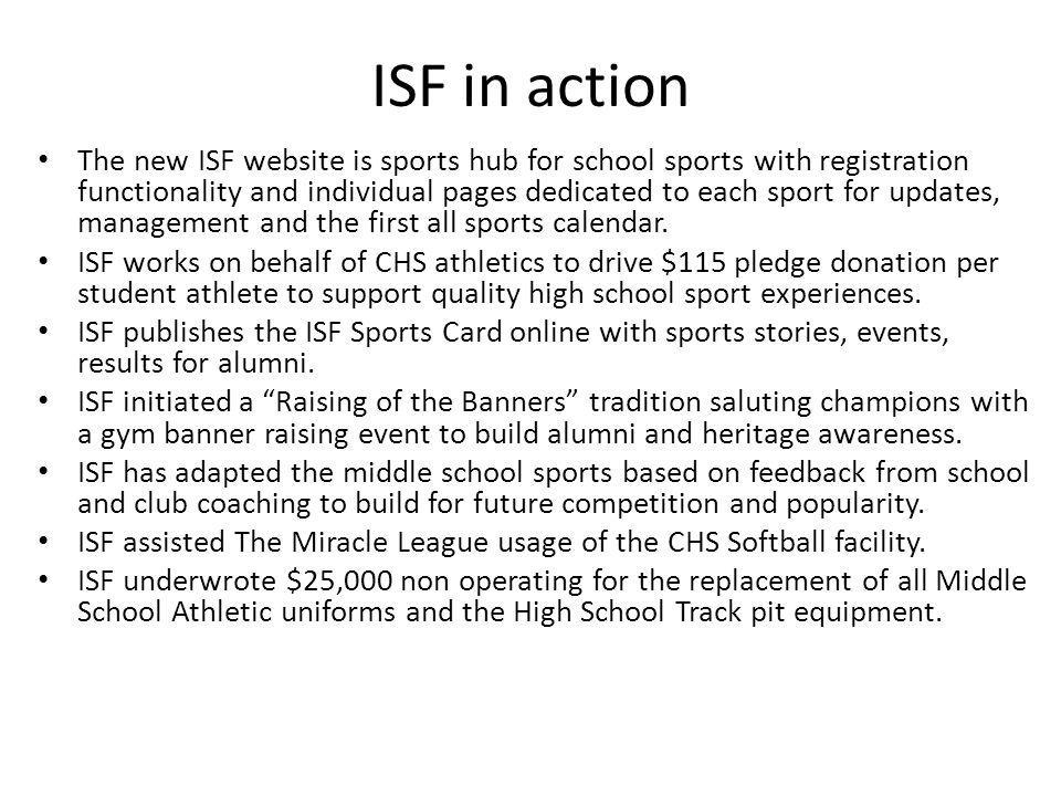ISF in action