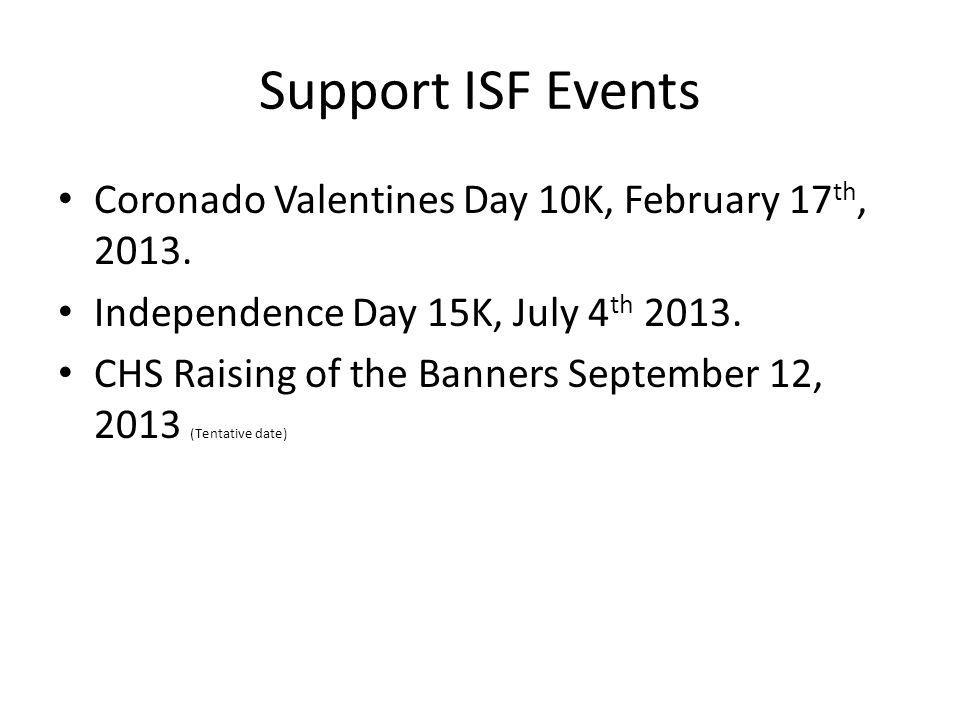 Support ISF Events Coronado Valentines Day 10K, February 17th, 2013.