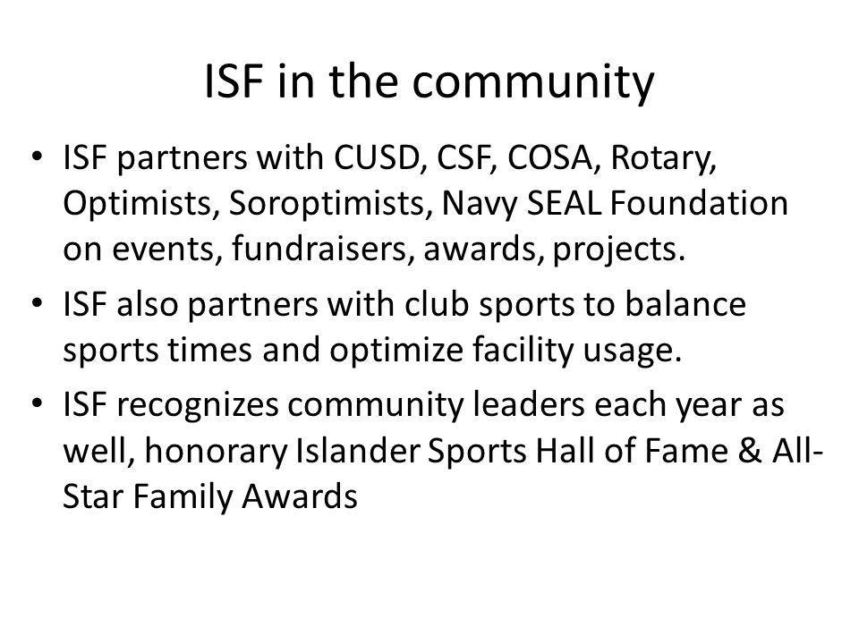 ISF in the community