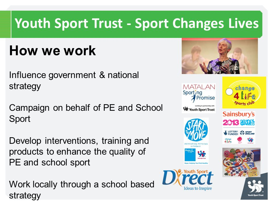 Youth Sport Trust - Sport Changes Lives
