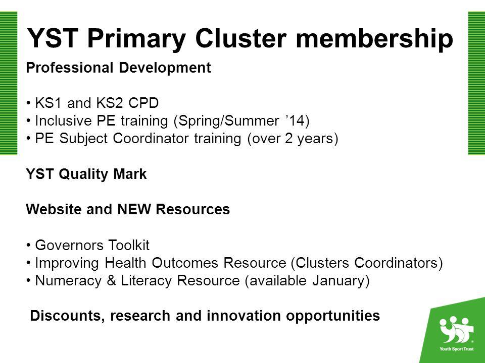 YST Primary Cluster membership