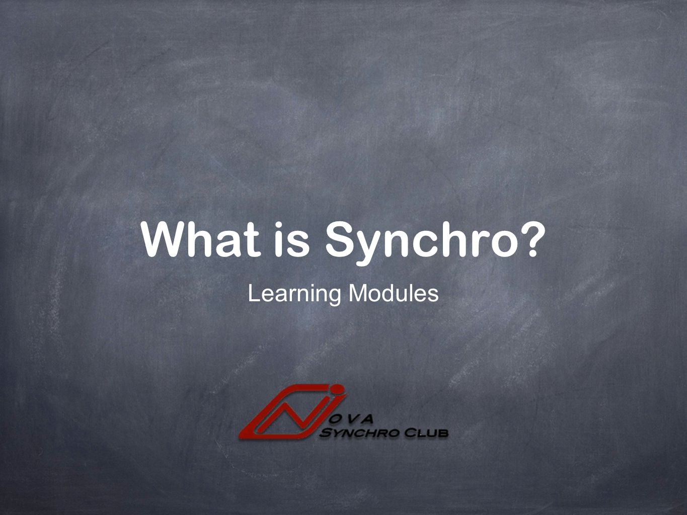 What is Synchro Learning Modules