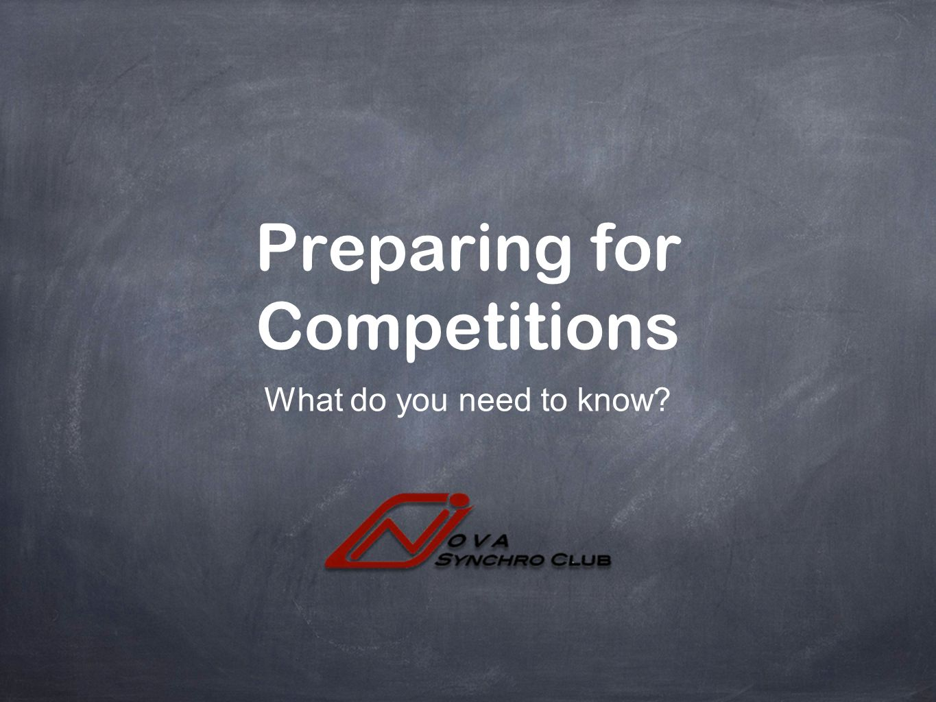 Preparing for Competitions