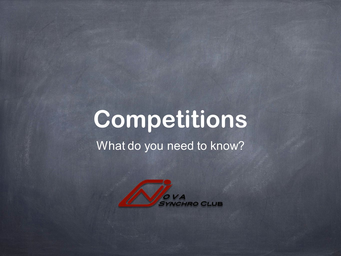 Competitions What do you need to know