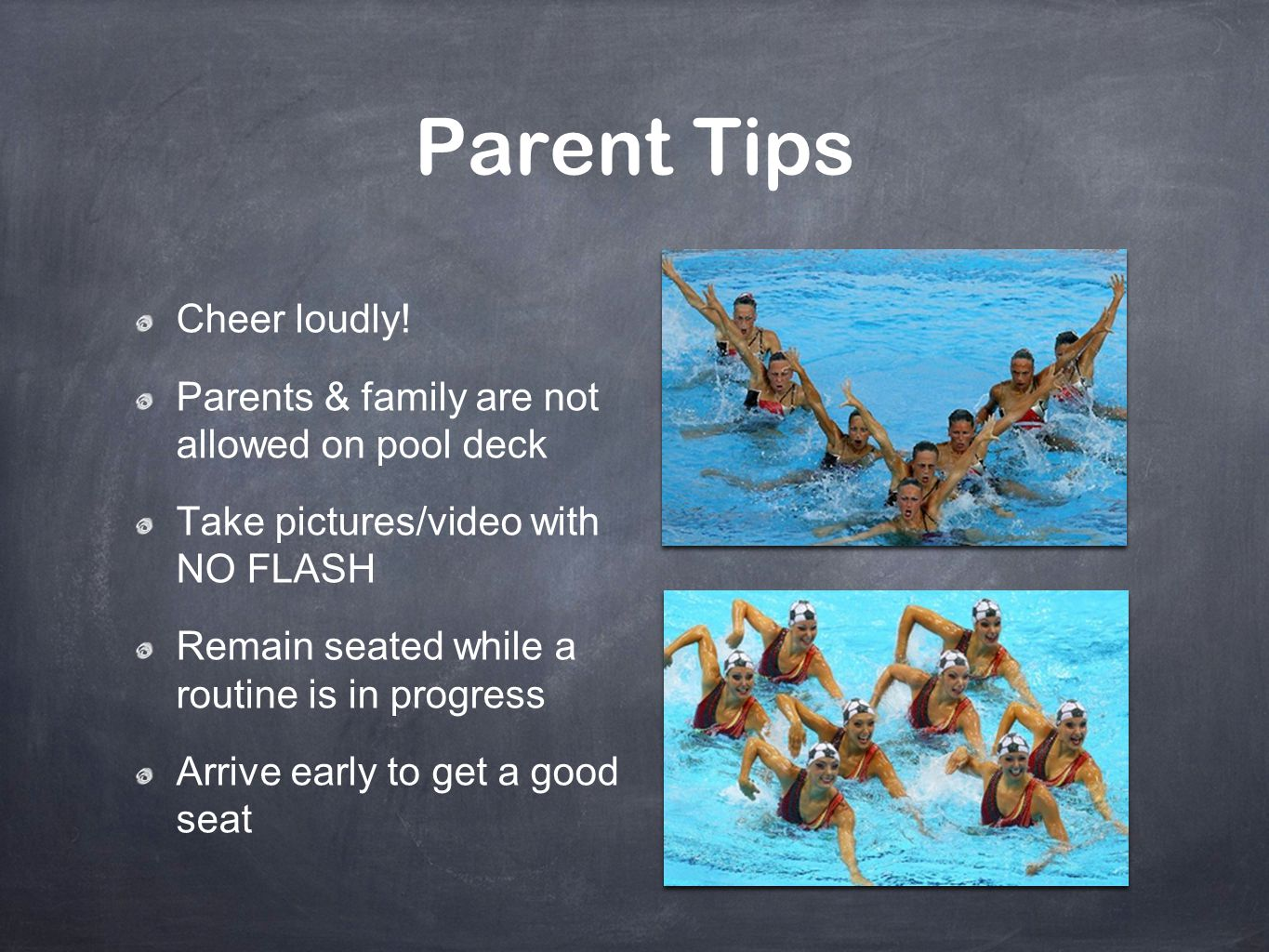 Parent Tips Cheer loudly!