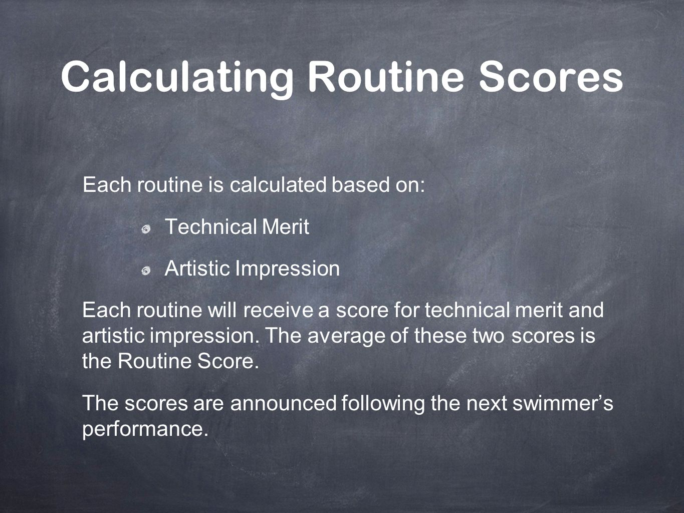 Calculating Routine Scores