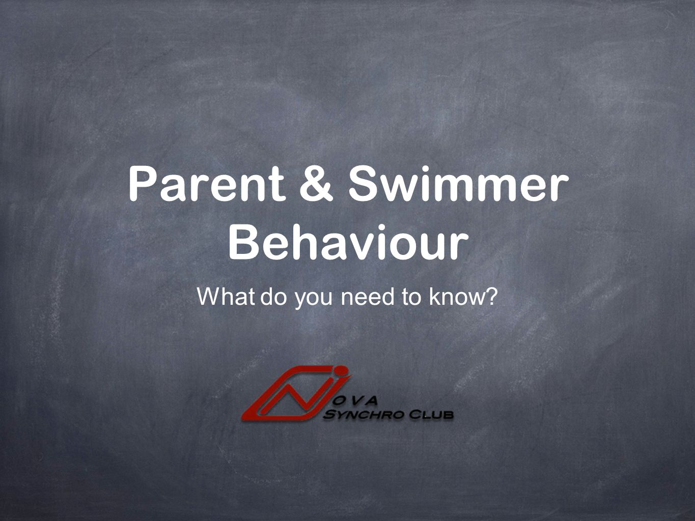 Parent & Swimmer Behaviour
