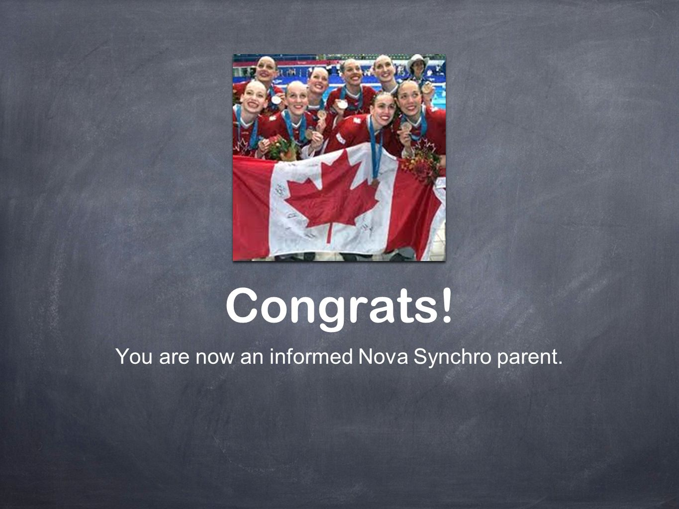 You are now an informed Nova Synchro parent.