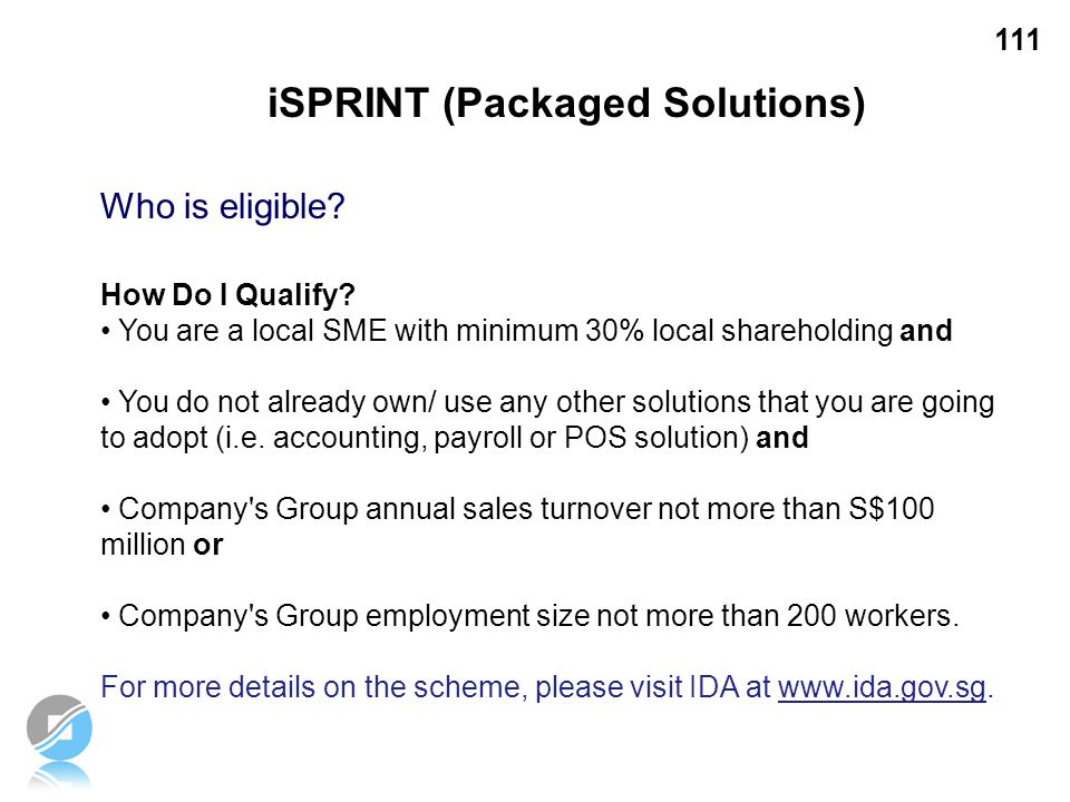 iSPRINT (Packaged Solutions)