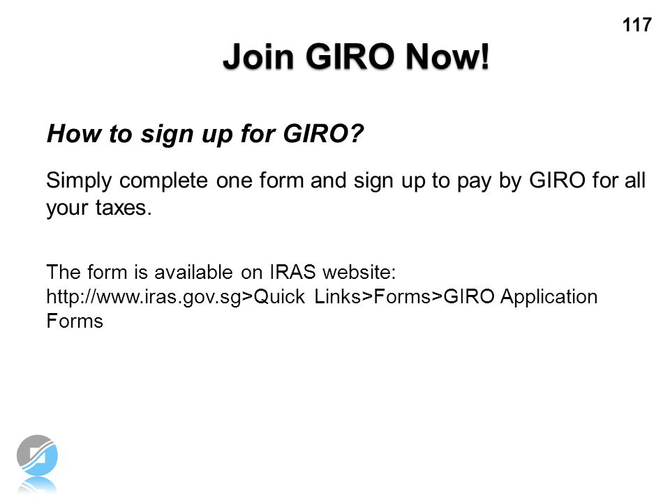 Join GIRO Now! How to sign up for GIRO