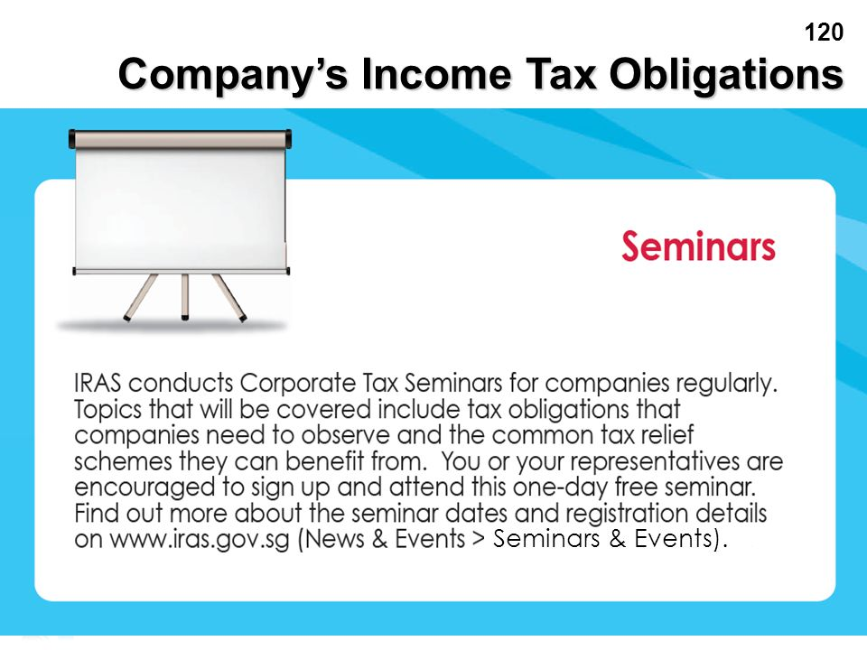 Company's Income Tax Obligations