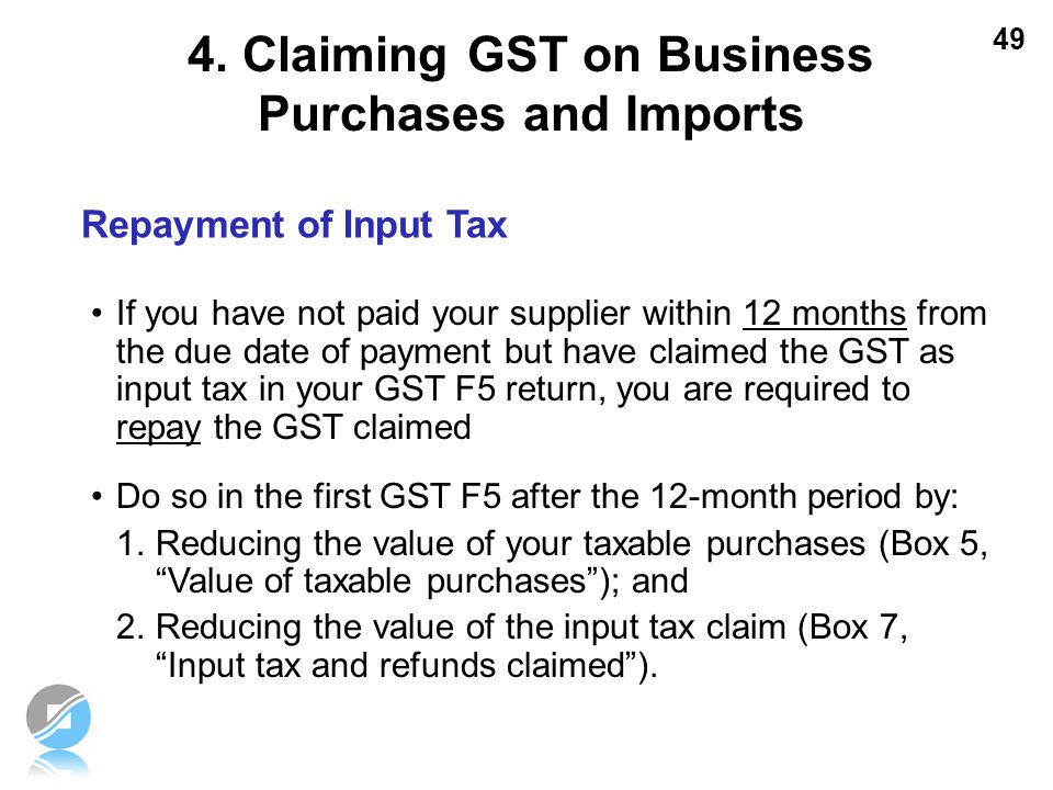 4. Claiming GST on Business Purchases and Imports