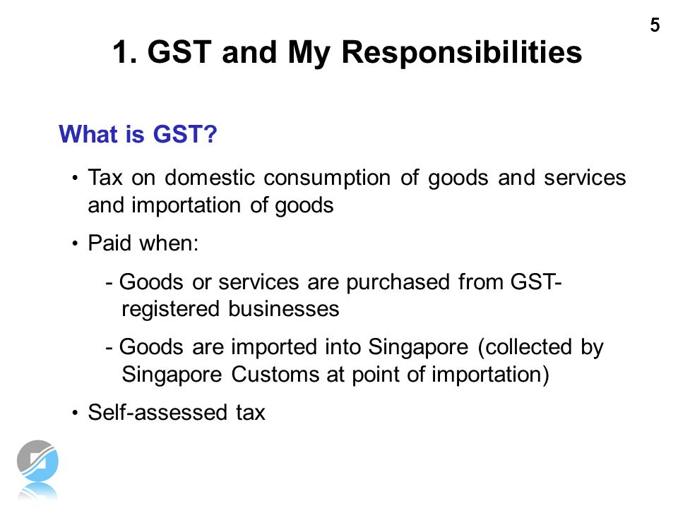 1. GST and My Responsibilities