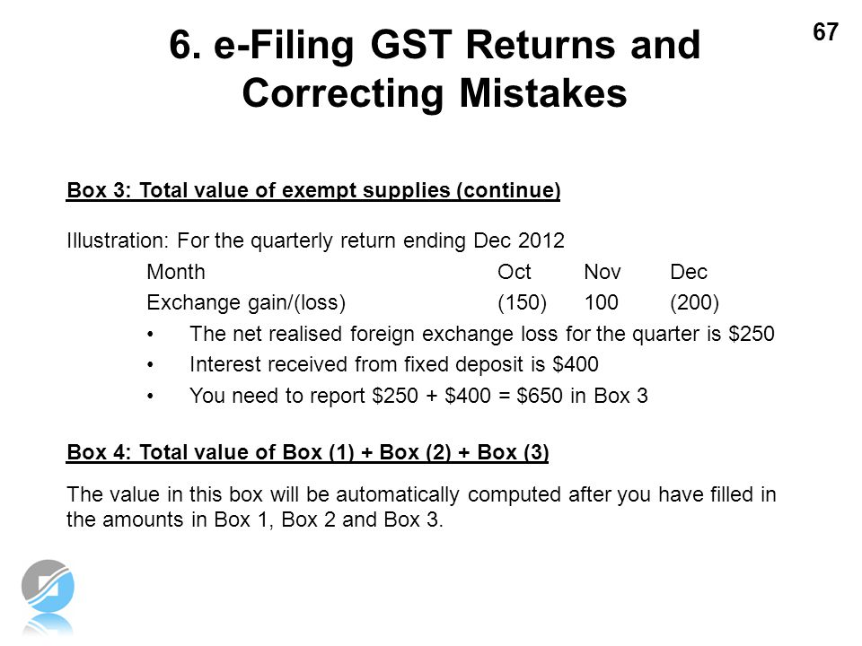 6. e-Filing GST Returns and Correcting Mistakes