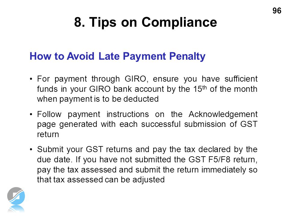 8. Tips on Compliance How to Avoid Late Payment Penalty