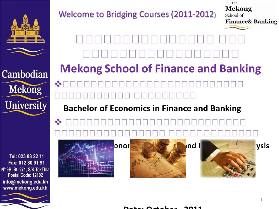 Welcome to Bridging Courses (2011-2012)