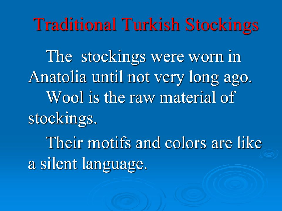 Traditional Turkish Stockings