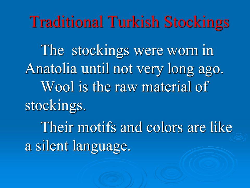 Traditional Turkish Stockings