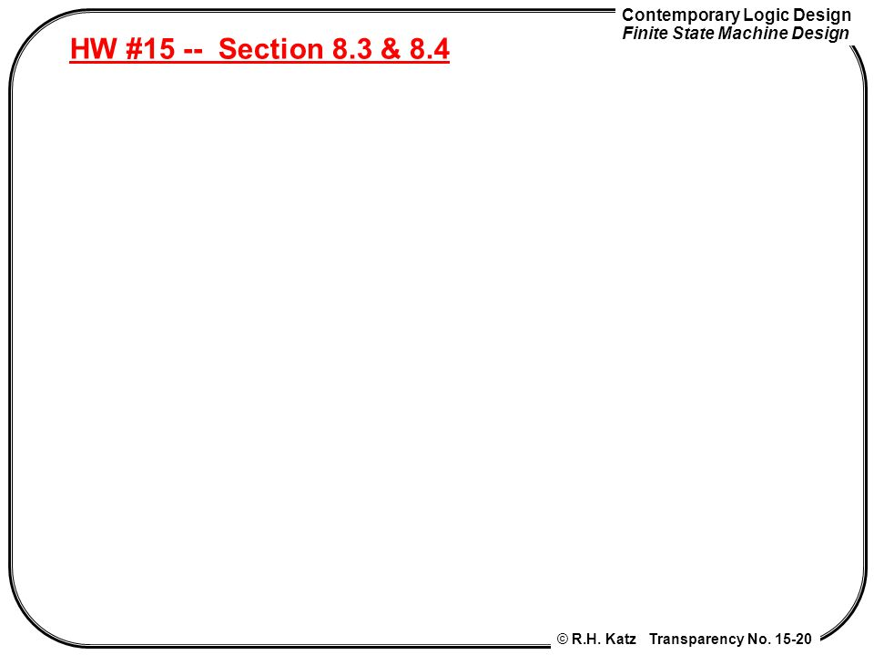 HW #15 -- Section 8.3 & 8.4