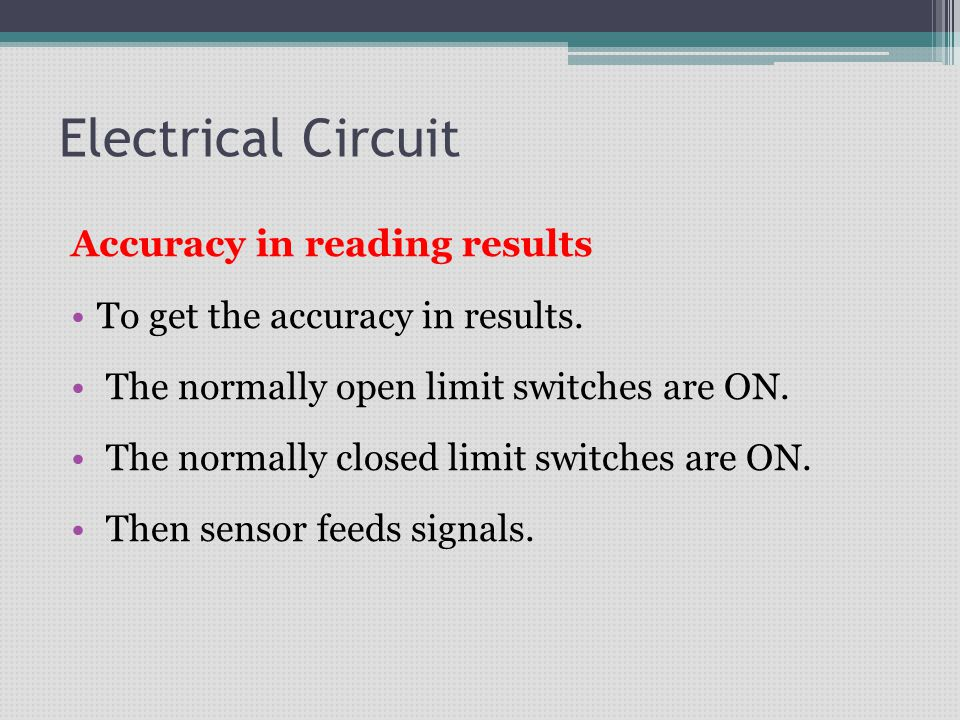 Electrical Circuit Accuracy in reading results