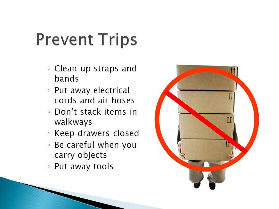 Prevent Trips Clean up straps and bands
