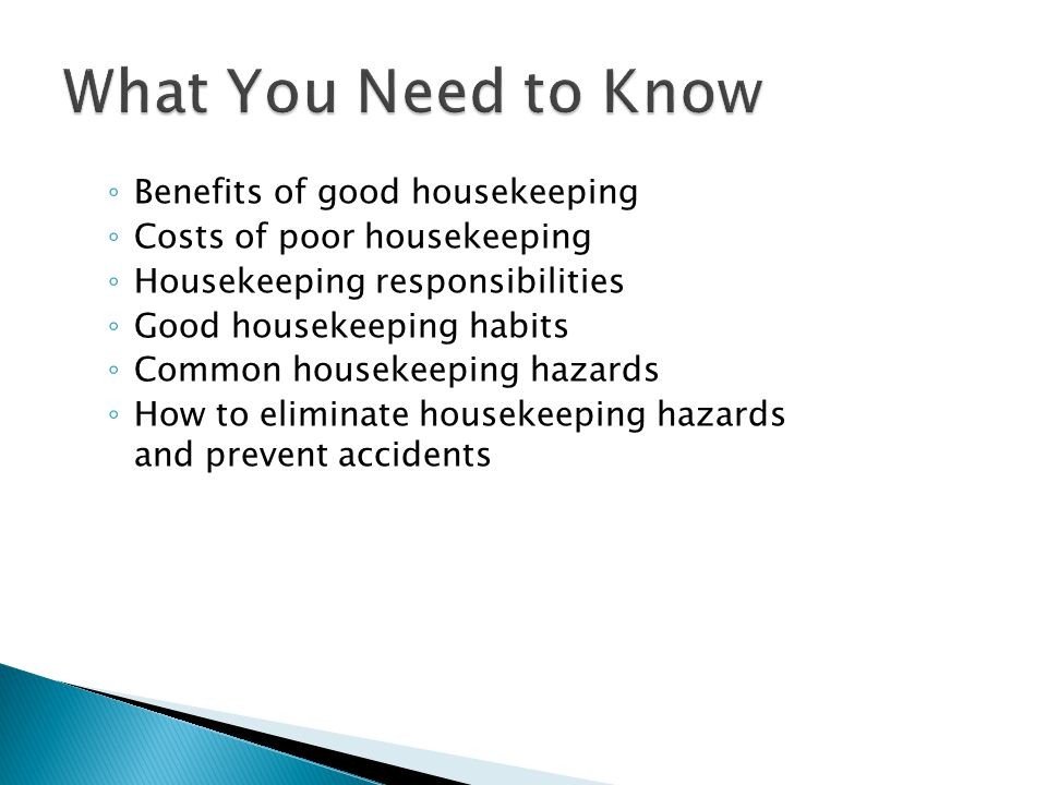 What You Need to Know Benefits of good housekeeping