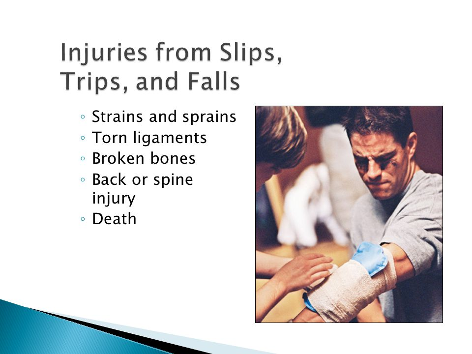 Injuries from Slips, Trips, and Falls
