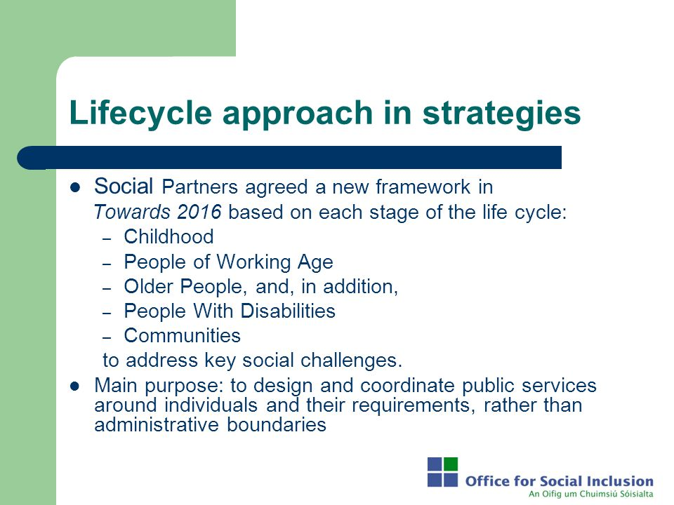 Lifecycle approach in strategies