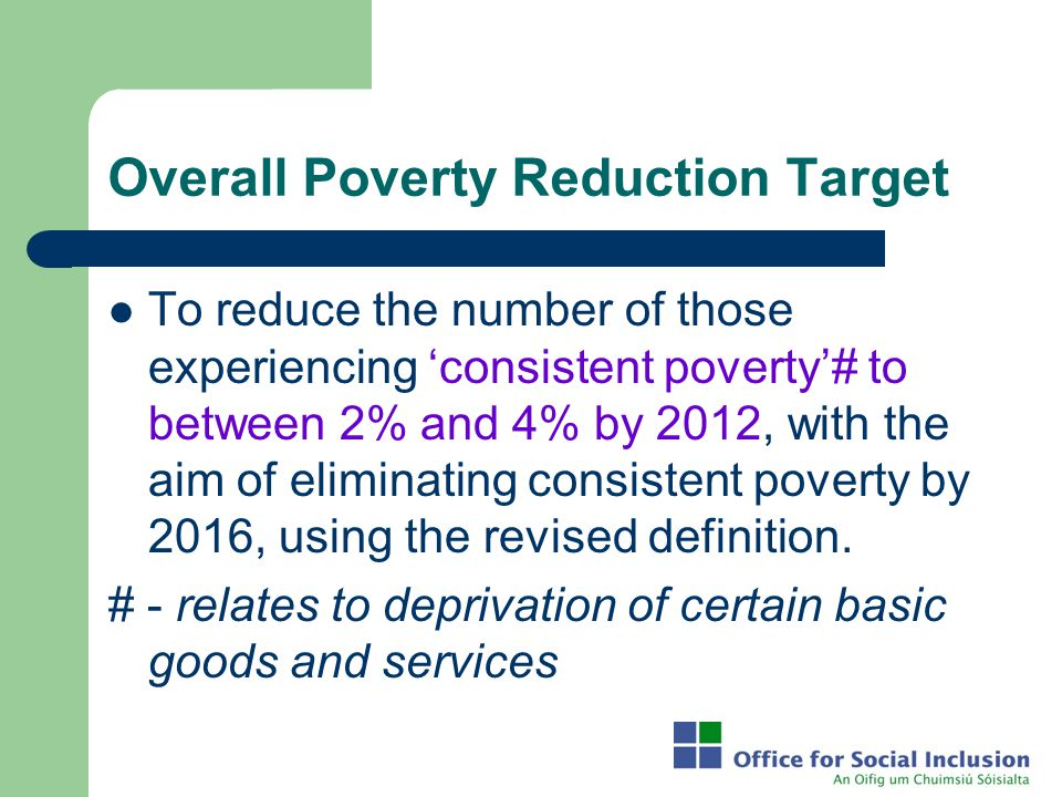 Overall Poverty Reduction Target