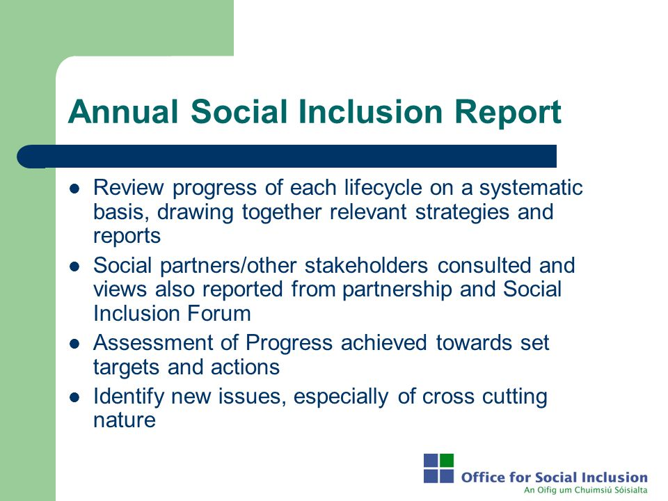 Annual Social Inclusion Report