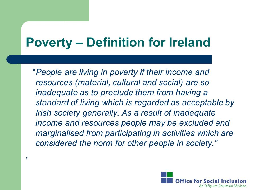 Poverty – Definition for Ireland