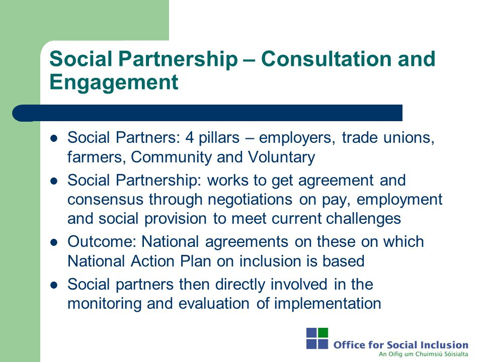 Social Partnership – Consultation and Engagement
